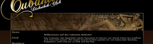 Cubanito Diskothek-Club website