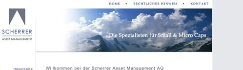 Scherrer Asset Management website